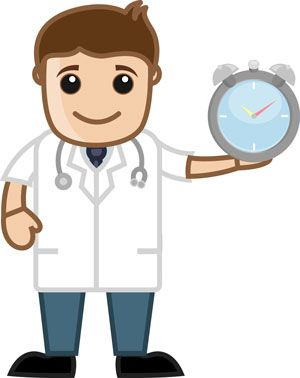 doctor with watch