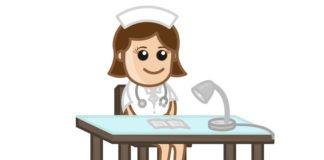 nurse on reception