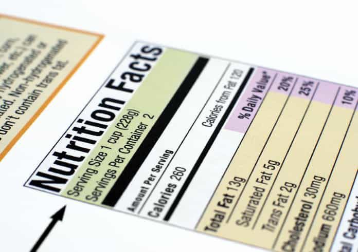 FDA Implements Changes to Nutrition Facts Label on Food Packaging